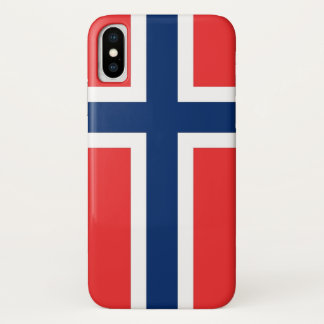 Patriotic Iphone X Case with Flag of Norway