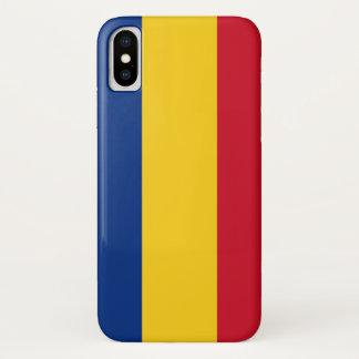 Patriotic Iphone X Case with Flag of Romania