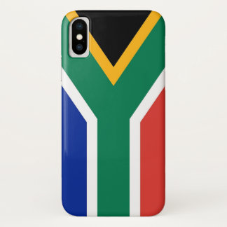 Patriotic Iphone X Case with Flag of South Africa