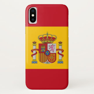 Patriotic Iphone X Case with Flag of Spain