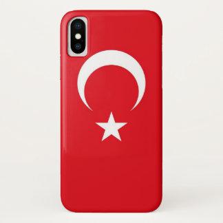 Patriotic Iphone X Case with Flag of Turkey