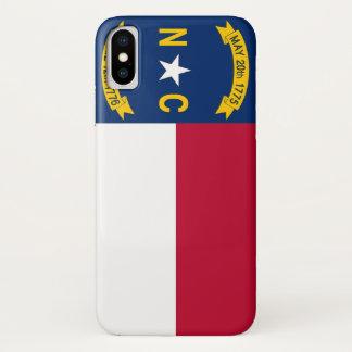 Patriotic Iphone X Case with North Carolina Flag