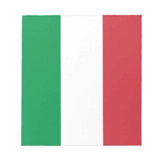 Patriotic Italian Flag Notepad