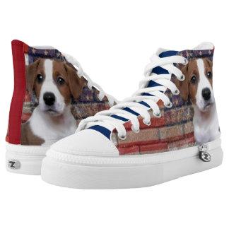 Patriotic Jack Russel Terrier tennis shoes Printed Shoes