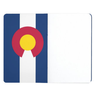 Patriotic journal with Flag of Colorado