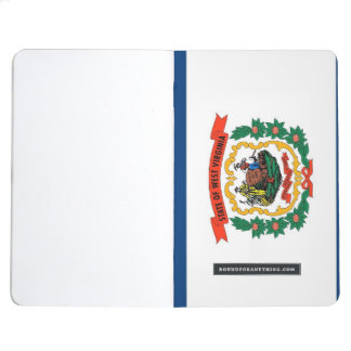 Patriotic journal with Flag of West Virginia