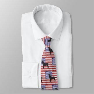 Patriotic Labrador Retriever 4th of July Tie