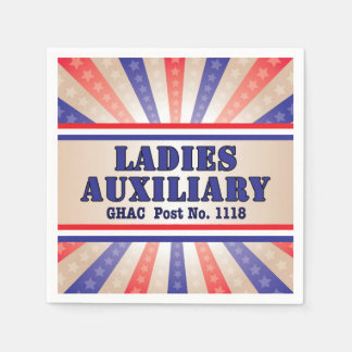 Patriotic Ladies Auxiliary napkins Disposable Napkin