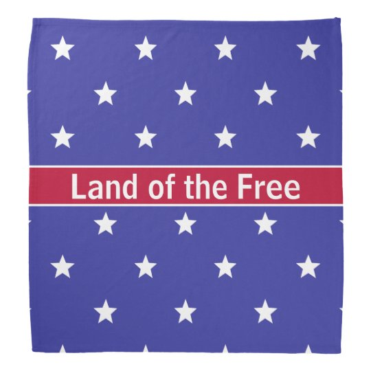 Patriotic Land of the Free Bandanna