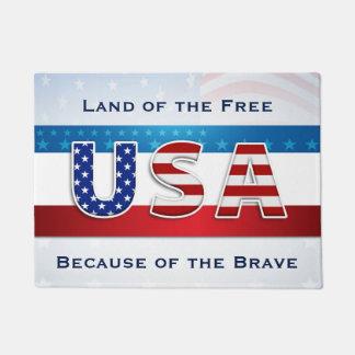Patriotic - Land of the Free Doormat