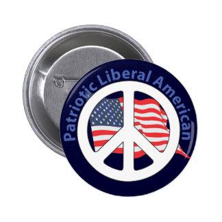 Patriotic Liberal American Pin