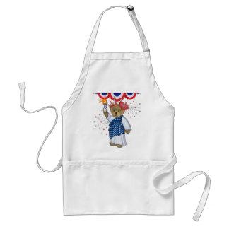 Patriotic Liberty Bear Aprons