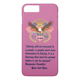 Patriotic Liberty Peace Dusty Rose iPhone 8 Plus/7 Plus Case