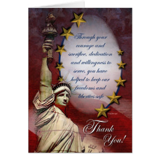 Patriotic Liberty Thank You Card