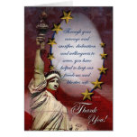Patriotic Liberty Thank You Card Greeting Card