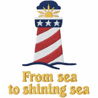 Patriotic Lighthouse USA