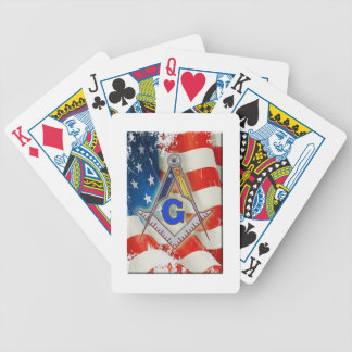 Patriotic Mason Bicycle Playing Cards