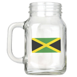 Patriotic Mason Jar with Flag of Jamaica