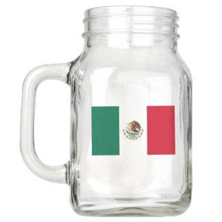 Patriotic Mason Jar with Flag of Mexico