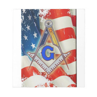 Patriotic Mason Notepad