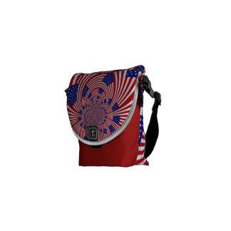 Patriotic messenger bag made in america