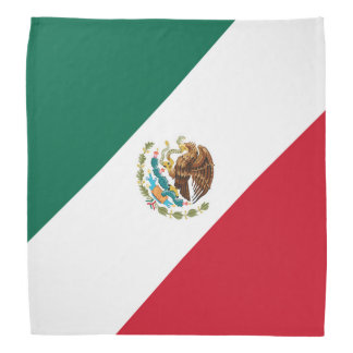 Patriotic Mexican Flag Bandera Mexicana Tricolor Bandannas