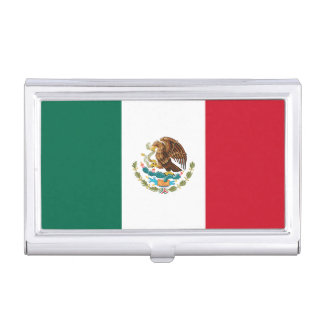 Patriotic Mexican Flag Business Card Holder