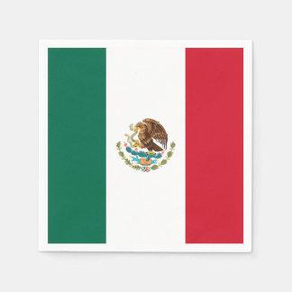 Patriotic Mexican Flag Paper Napkin