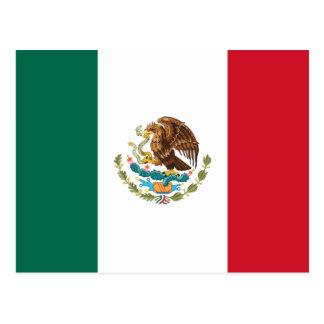 Patriotic Mexican Flag Postcard