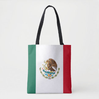 Patriotic Mexican Flag Tote Bag