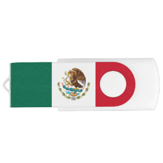 Patriotic Mexican Flag USB Flash Drive