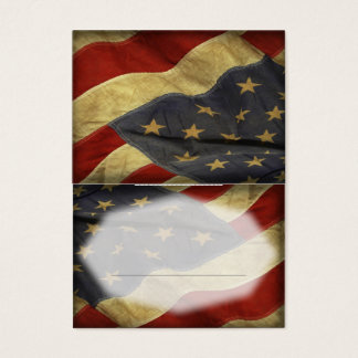 Patriotic Military American Flag Place Card
