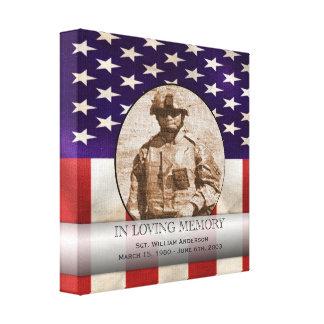 Patriotic Military Custom Personalized Memorial Canvas Print