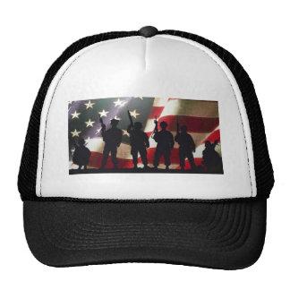 Patriotic Military Soldier Silhouette Cap