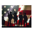 Patriotic Military Soldier Silhouette Postcard