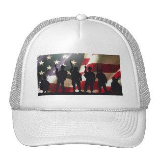 Patriotic Military Soldier Silhouettes Cap