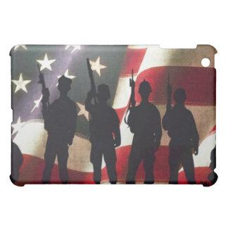 Patriotic Military Soldier Silhouettes iPad Mini Cases
