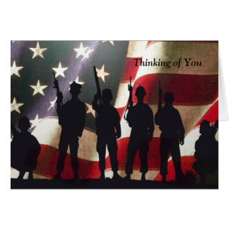 Patriotic Military Soldier Thinking of You Custom Card