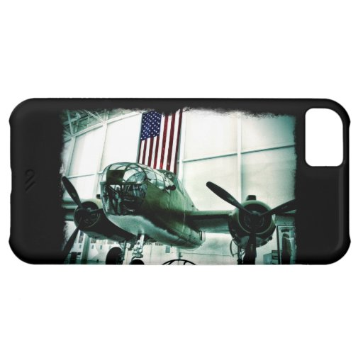 Patriotic Military WWII Plane with American Flag iPhone 5C Case