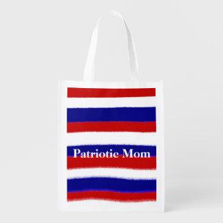 Patriotic Mom Reusable Grocery Bag