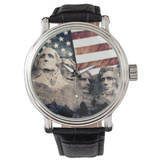 Patriotic Mount Rushmore Wristwatch