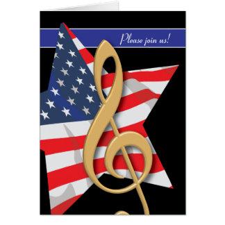 Patriotic Music Invitation