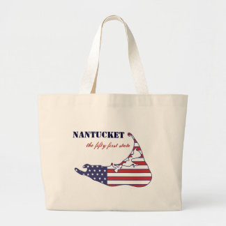 Patriotic Nantucket, the 51st State of America Canvas Bag