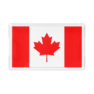 Patriotic National Flag of CANADA Acrylic Tray