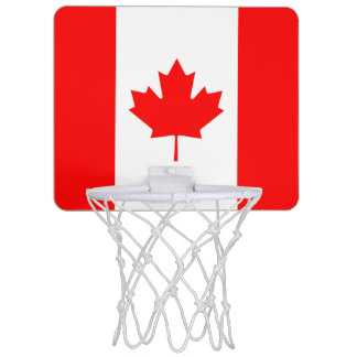 Patriotic National Flag of CANADA Mini Basketball Hoop