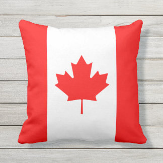 Patriotic National Flag of CANADA Outdoor Cushion