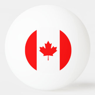 Patriotic National Flag of CANADA Ping Pong Ball