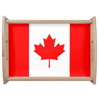 Patriotic National Flag of CANADA Serving Tray