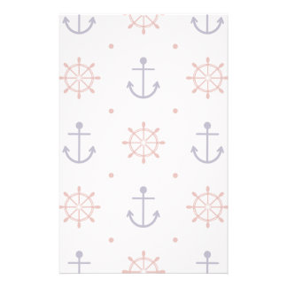Patriotic Nautical Pattern Customized Stationery