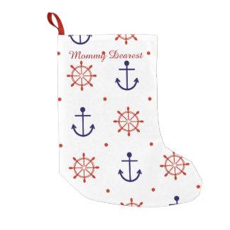 Patriotic Nautical Pattern Small Christmas Stocking
